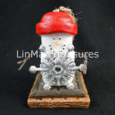 S'mores Silver Snowflake Ornament Glitter Snowflake Red Cap Midwest CBK