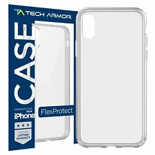 Tech Armor FlexProtect Case for Apple iPhone X / XS – Clear- Shock Absorption