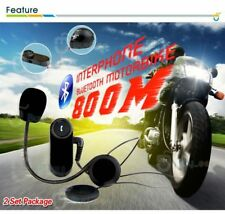 2 x 800M Interphone Bluetooth Intercom Headset for Motorbike Motorcycle Helmet