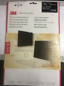 "3M Black Privacy Filter for 15.6"" Laptop  PF15.6W New"