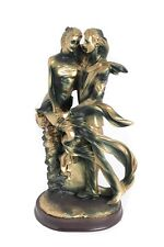 """15"""" High Home Table Decor Statuette of Man and Woman Romantic Beautiful Lovers"""