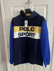 Ralph Lauren Polo Sport Hoodie. Blue / Yellow. XL. New With Tags! RRP £155.00