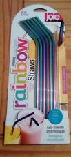 Joie Rainbow-Coloured Stainless Steel Drinking Straws – Pack of 6 New in Pack