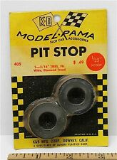 "1965 K&B Aurora 1:24 1:25 Slot Car Pit Stop Parts 1 5/16"" WIDE DIAMOND TIRES 405"