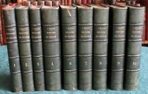 MICHELET HISTOIRE DE FRANCE 15 TOMES SUR 17 EN 9 VOLUMES