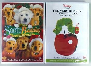 LOT OF 2 Disney DVD Discs - Santa Buddies and The Very Hungry Caterpillar