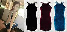 Stretch, Bodycon Hand-wash Only Velvet Dresses for Women