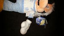 """15"""" Disney Store Snowflake White Knitt Sweater Mickey Mouse Plush Sewn Eyes NEW"""