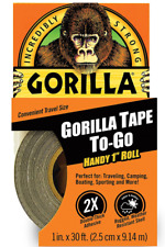 Gorilla Tough Duct Tape Thick Adhesive Waterproof Heavy Duty Emergency Black