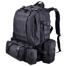 55L Outdoor Military Molle Tactical Backpack Oxford Sports Camping Hiking Bag