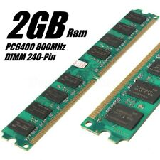 2GB PC6400 DDR2-800MHz PC2-6400 240PIN DIMM Memory AMD Motherboard Desktop Chip
