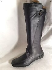 CLARKS Ladies Black Leather Mid Calf Boots Size 5