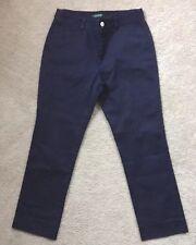 LRL Ralph Lauren Size 8 Women Pants Blue Flat Front Stretch Cotton