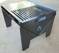 Flat Pack Portable BBQ / Fire Pit / Camping Stove & Grill With Ash Tray