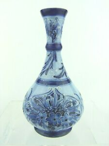A Rare Wm Moorcroft Ja's Macintyre Florian Cornflower Vase.