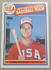 1985 Topps #401 Mark McGwire USA Baseball RC Rookie