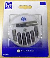 Lux tools Portainserti magnetico con 7 inserti esagonali inclusi 2 3 4 5 6 8 new