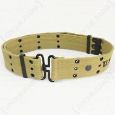 WW2 US Khaki Pistol Belt - Repro American Army Uniform Soldier Military USA New