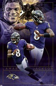 Lamar Jackson DYNAMO Baltimore Ravens NFL Football QB Action 22x34 Wall POSTER