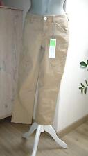 ESPRIT 💕💖 Damen Caprihose TUBE SLIM Stretch 3/4 Hose Belmond Beige / Sand