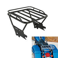 Detachables Two-Up Luggage Rack For Harley Touring Road King FLHT FLHX 1997-2008