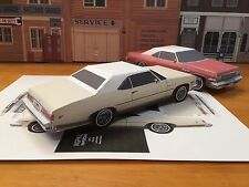 Papercraft Buick Lesabre white color Paper Car E Z U-build 1975 Toy Model Car