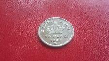 b)  20 centimes argent 1867BB Napoléon lll