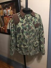 Vintage 1960s Black Sheep Brand Camouflage Cotton Camo Field / Hunting Jacket L