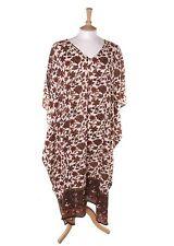 Plus Size Full Length V Neck Boho, Hippie Dresses for Women