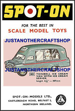 Spot-On Triang 265 Tonibell Ice Cream Van A3 Size Poster Advert Sign Leaflet