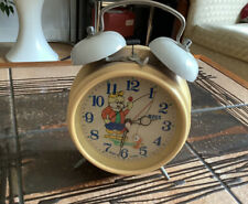 More details for vintage 60s 70s ross animated moving fish cat fishing retro alarm clock gwo vgc