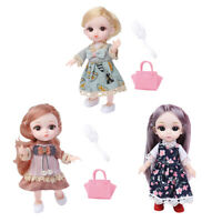 3Pcs Moveable Jointed 14 Joints 16cm Baby Doll Fashion Dolls Toy Accessories