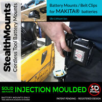 5x Black MAKITA 18v BATTERY MOUNTS great for Shelves Racks Case Van Mikita Clip