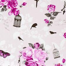Marburg Carta da parati casa abitano 3 tessuto non tessuto carta da parati 54726 Floral Vintage Rosa Pink