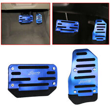 2pcs Blue Non-Slip Automatic Car Gas Brake Foot Pedal Pad Cover Accelerator Set