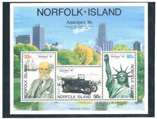 NORFOLK ISLAND 1986 AMERICAPEX'86 S/S