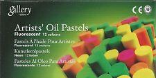 MUNGYO 24-PASTEL SET ~ 12-PIECE EA. METALLIC & FLUORESCENT OIL PASTELS ~ NEW!!