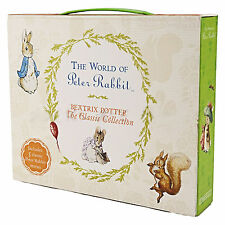The World of Peter Rabbit Suitcase 5 Books Box Set Collection By Beatrix Potter