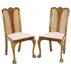 PAIR OF CIRCA 1940'S BERGER & FLAMED MAHOGANY CLAW & BALL FEET OCCASIONAL CHAIRS