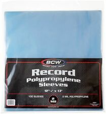 100 BCW Record Vinyl Album Clear Plastic Outer Sleeves Bags Covers 33 RPM LP