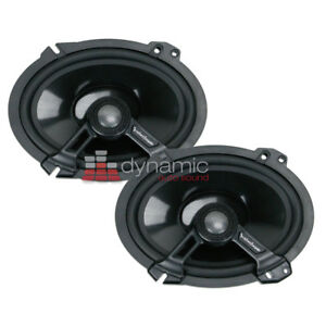 """Rockford Fosgate T1682 6"""" x 8"""" Power Series 2-way Car Stereo Coaxial Speakers"""