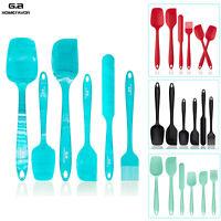 6pc Silicone Spoon Utensil Spatulas Set Non stick Heat Resistant Baking Kitchen
