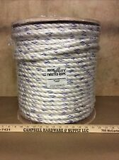 """5/8"""" x 600' Polydac Poly Dacron Combo Rope MTC Dock Line & Anchor Climbing Rope"""