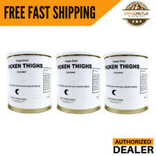 Military Food Surplus- Chicken Thighs,3 Can,Authorized dealer, FREE SHIPPING