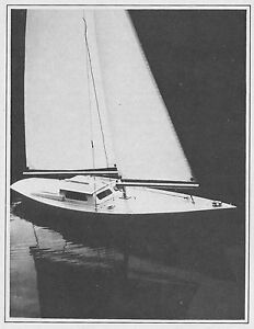 Ariel RC Sailboat Model Boat Ship Plans, Templates and Instructions 37""