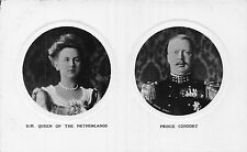 POSTCARD   ROYALTY    NETHERLANDS  HM  The  Queen  &  Prince  Consort