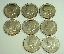 Lot of eight 1776-1976, 1972, 1974 Kennedy Half Dollar