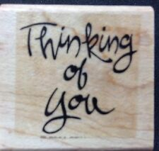 Rubber Stamp Thinking of You Stampin' Up 2001 Card Making Scrapbooking Crafts