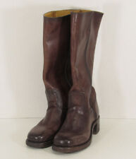 $378 Frye Womens Campus 14L Tall Pull On Boots, Dark Brown, US 6