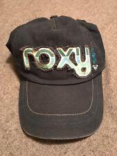 ROXY Ladies Navy Stripe Print Letters Baseball Hat Cap One Size